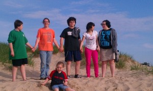 My kids and nephew Summer of 2013 - a great memory.