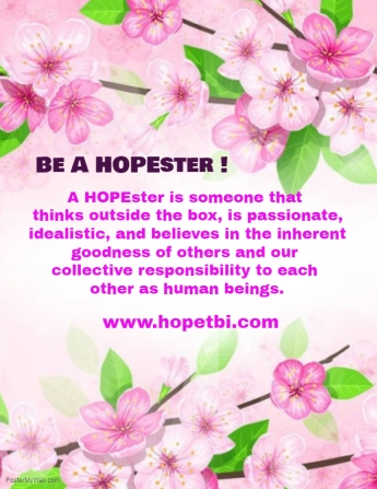 Be A HOPEster Flyer - Block