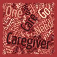 How to Survive as a Primary Caregiver Word Cloud Concept Text Background