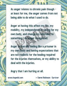 pain and anger